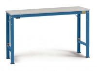 Grundarbeitstisch Melamin 22 mm UNIVERSAL Spezial, leitfähig 1000 / 800 / Brillantblau RAL 5007