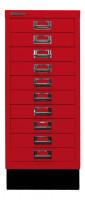 Schubladenschrank mit 10 Schubladen für DIN A4 ohne Sockel / Blau