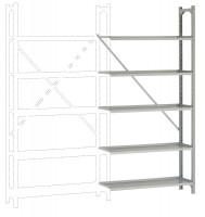 REGISTRA Archiv Standard Einfach-Anbauregal, einseitige Nutzung 1900 / Einseitig (Diagonalverstrebung)
