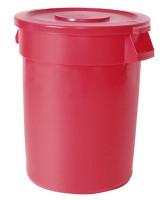 Runder Mehrzweckbehälter, Volumen 167 Liter Rot