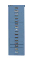 Schubladenschrank mit 15 Schubladen für DIN A4 Blau