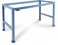 Grundarbeitstischgestell UNIVERSAL Standard, leitfähig 1000 / 600 / Lichtgrau RAL 7035