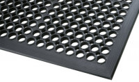 Offene antibakterielle Bodenmatte, nicht Ölbeständig, Schwarz 2970