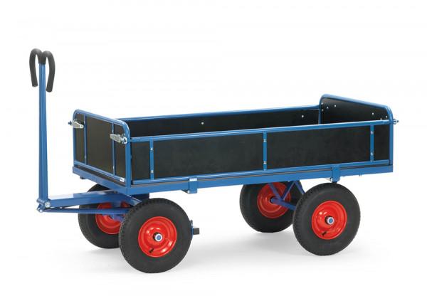 Handpritschenwagen mit Bordwänden, Vollgummi-Bereifung