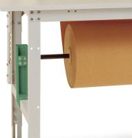 Rollen-Achssatz für Tischbreite 2000 mm 1000 / Resedagrün RAL 6011
