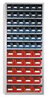 Ordnungsregal, HxBxT: 1950 x 950 x 400 mm 10 Fachböden, 36xGr.4, 20xGr.5