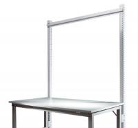 Stahl-Aufbauportale ohne Ausleger, mit Querstabilisierungsstrebe Anbaueinheit Standard Alusilber ähnlich RAL 9006 / 2000