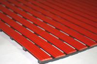 Bodenmatte aus Hart-PVC, 12,0 mm, Lfdm. Rot / 1000
