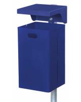 Abfallbehälter mit Ascherhaube, 50 Liter Tannengrün RAL 6009 / Tannengrün RAL 6009