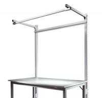 Stahl-Aufbauportale mit Ausleger Grundeinheit Spezial/Ergo Alusilber ähnlich RAL 9006 / 2000