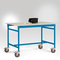 Beistelltisch Melamin 22 mm BASIS Mobil, leitfähig 2000 / 800 / Lichtblau RAL 5012
