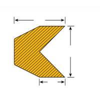Selbstklebende Warn-und Schutzprofile/Prallschutz für Kantenschutz Trapez