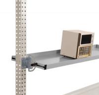 Neigbare Ablagekonsole für Werkbank PROFI Alusilber ähnlich RAL 9006 / 1750 / 345