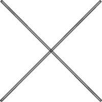 Diagonalverstrebungen verzinkt 1500-2500 / 1000