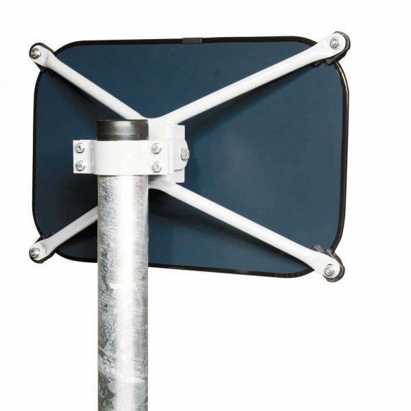 Adapter für Befestigung des Compact-Sekuritsicherheitsglasspiegel an 108er Rohre
