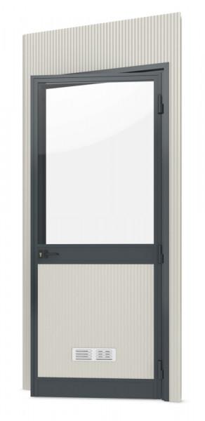 Einzelpaneel mit Glastür(DIN-rechts)