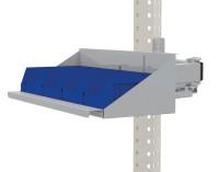 Sichtboxen-Regal-Halter-Element für MULTIPLAN / PROFIPLAN Alusilber ähnlich RAL 9006