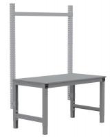 MULTIPLAN Stahl-Aufbauportale ohne Ausleger, Grundeinheit Lichtgrau RAL 7035 / 750