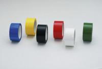 Farbige Selbstklebebänder, Gewebeband, 1 VE = 18 Stück Schwarz
