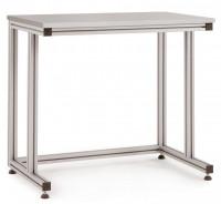 Grundpulttisch ALU Kunststoff 22 mm für sitzende Tätigkeiten 1500 / 800