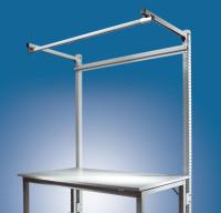 Stahl-Aufbauportale mit Ausleger Grundeinheit Spezial/Ergo 2000 / Alusilber ähnlich RAL 9006