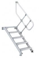 Zweiter Handlauf für Industrie-Treppe, Neigung 45° 5