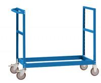Schwerer Grundrahmen für Etagenwagen Varimobil, Höhe 1030 mm Brillantblau RAL 5007 / 1000 x 700