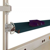 Neigbare Ablagekonsolen für Alu-Aufbauportale Anthrazit RAL 7016 / 1500 / 195