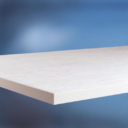 Arbeitstischplatte PVC weißgrau 22 mm