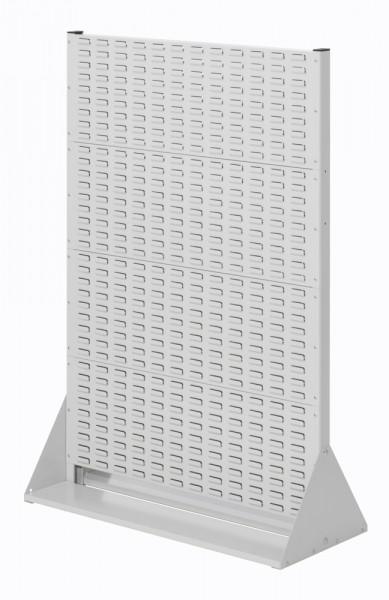 Stellwand mit Sichtlagerkästen, Doppelseitige Nutzung, Höhe 1450 mm