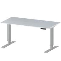 Elektr. höhenverstellbarer Prüftisch E-LINE 200, Melamin-Tischplatte 22 mm, lichtgrau 2000