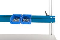 Boxenträgerschiene leitfähig 1600 / Brillantblau RAL 5007