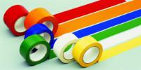 Bodenmarkierungsbänder mit Bandbreite 75 mm, VE = 6 Stück Gelb