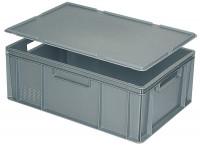 Auflagedeckel für Euronorm-Transport-Stapelbehälter Grau / 400 x 300