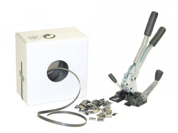 Spannband für einfaches Umreifungsset, Kunststoffband, Rollenlänge 1000 mm, für gelegentliche bis hä