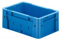 Schwerlast-Sichtlagerkästen, Wände und Boden geschlossen Blau / 4,1