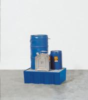 Kunststoff-Auffangwannen 220 / Mit verzinktem Gitterrost