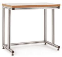 Grundpulttisch ALU Kunststoff 40 mm für sitzende Tätigkeiten 1000 / 800
