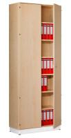 Modufix Anbau-Flügeltüren-Büroschrank mit 6 Fachböden HxBxT 2575 x 1000 x 420 mm Ahorn / Ahorn