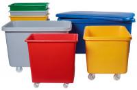 Deckel für Rollwagen, für Volumen 227 Liter Rot