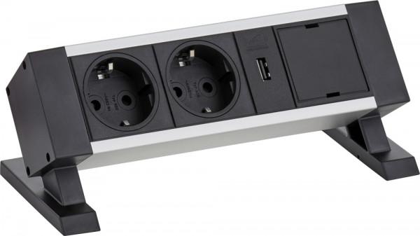 Steckdosen-Dockingstation, mit USB-Buchse