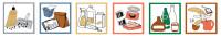 Piktogramm-Set für System-Sammelbehälter