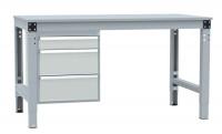 Schubfach-Unterbauten MULTIPLAN, stationär, 1x100, 2x200 mm Lichtgrau RAL 7035 / 700