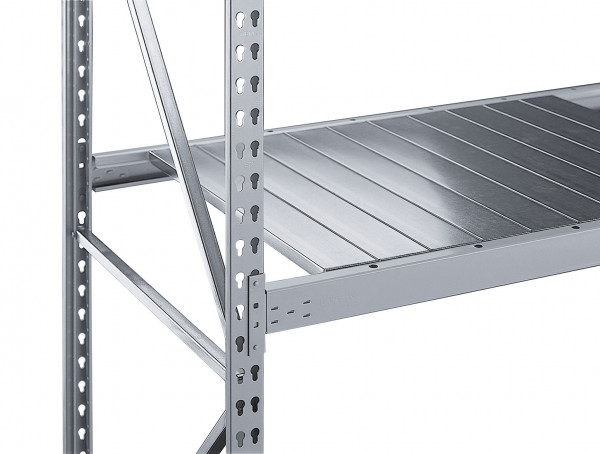 Traversen-Ebene für Weitspannregale, mit Spannplattenauflage