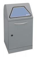 System-Sammelbehälter mit Einwurfklappe Verzinkter Innenbehälter / 45