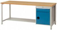 Kastenwerkbank Multiplex 40 mm Compact Modell 6, Vollauszug 100 kg Enzianblau RAL 5010