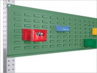 Werkzeug-Schlitzplatten für Stahl-Aufbauportale Resedagrün RAL 6011 / 2000