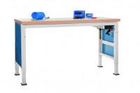 Grundwerkbank Linoleum 40 mm PROFI ERGO K Handkurbel - Großformat 800 / Lichtgrau RAL 7035