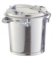 Stahlblech-Mülleimer, für staubfreie Entleerung 35