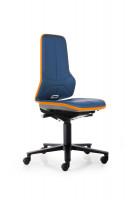 Arbeitsstuhl Neon mit Rollen Superfabric / Blau/Orange